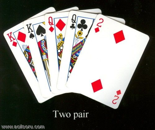 Poker two pair high card